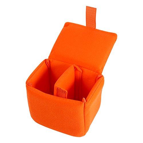 DSLR Kameratasche Einsatz Gepolsterte Stoßfest Faltbare Kameratasche wasserdichte Shockproof DSLR Spiegelreflex Camera Bag Schutztasche Kamera Tasche Zubehör Schwarz, Rot, Orange, Blau(Orange)