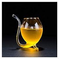 STORY 冷たい飲み物のための2つの部分300mlのわらのガラスマグッグフィットクリエイティブなノベルティ家とパーティージュースのユースジュースマグスミルクガラス (Capacity : 300ML)
