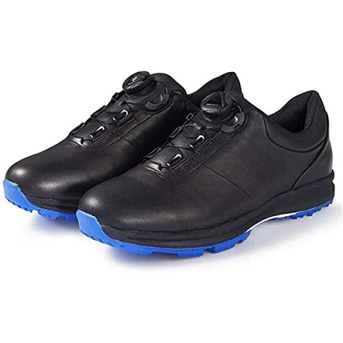 HANHJ VIIPOO Zapatos De Golf a Base Hierbas para Hombres, Zapatos Deportivos Antideslizantes Impermeables, Zapatos Entrenamiento Golf Al Aire Libre Ligeros Y Transpirables,Black-EU42