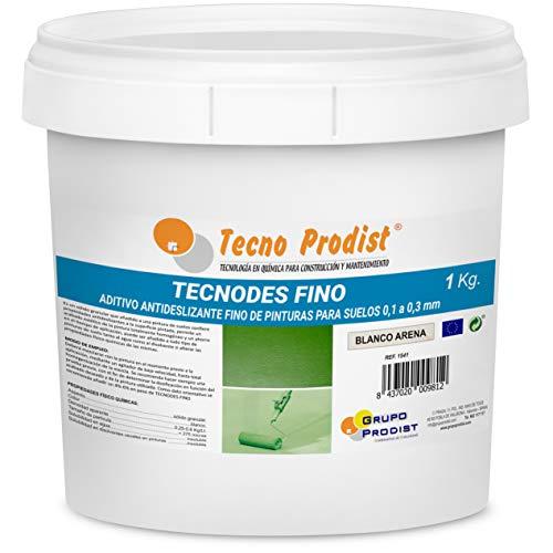 TECNODES FINO de Tecno Prodist - (1 kg) Aditivo antideslizante en polvo para pinturas de suelos, granulometría 0,1 a 0,3 mm