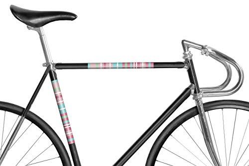 MOOXIBIKE Panel Streifen Rosa reflektierend, Rahmenschutzaufkleber für Rennrad, MTB, Trekkingrad, Fixie, Mountainbike, Hollandrad, Citybike, Scooter, Rollator bis circa 15 cm Rahmenumfang