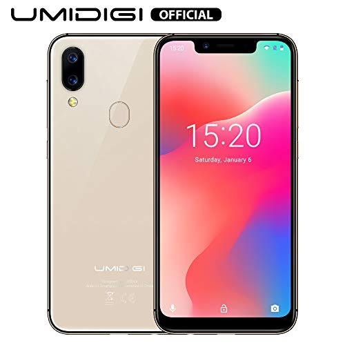 UMIDIGI A3 Pro Mobile Phone Unlocked Dual 4G Volte Smart Phone 5.7' Incell 19:9 Full-Screen Display 3GBRAM+16GB ROM 2+1 Triple Slot Face Unlock 12MP + 5MP Dual Camera Android 9.0[Rose Gold]