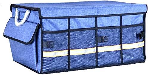 aycpg Car trunk storage bag Car Boot Organiser Collapsible Waterproof Durable Multi Compartme for Home/car Storage car boot storage bags (Color : Blue)
