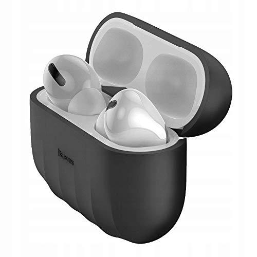 Capa Case Airpod Pro Porta Fone Silicone Shell Pattern Baseus Original Preto