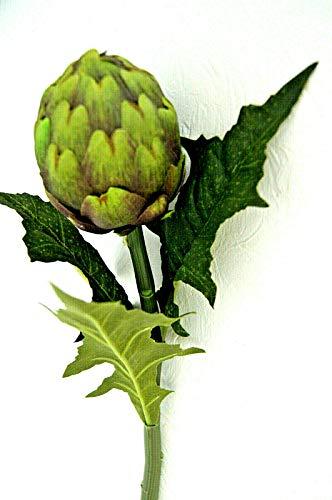 64 cm Ø 8 cm Künstliche Artischocke blütte Exotisch Deko Gemüse Grün Dekor K82 (K82 - A)