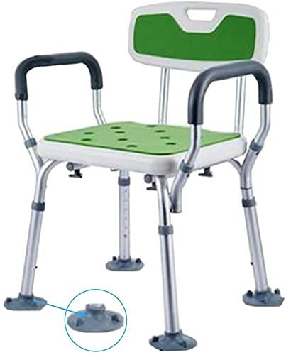 Taburete de Ducha Taburetes de baño, silla de ducha |Asiento de taburete de bañera de banco |con la duradera Banco de la ducha de las patas de aluminio |para discapacitados, mayores, bariátricos, b