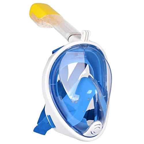 Máscara de Mergulho Livre Snorkeling Full Face Com Suporte Para Câmera GoPro Tamanho L/XL Cor Azul