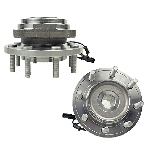 Detroit Axle - 4WD Front Wheel Hub Bearing Assembly for 2012 2013 Ram 2500 3500, 8 Lug - Driver and Passenger Side
