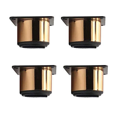 HYCy 4 Stück Möbelbeine Edelstahl, Metallbeine, für Sofa, TV-Schrank, Couchtisch, Nachttisch, Schuhschrank, Safe und Silent, Gold (85 mm)