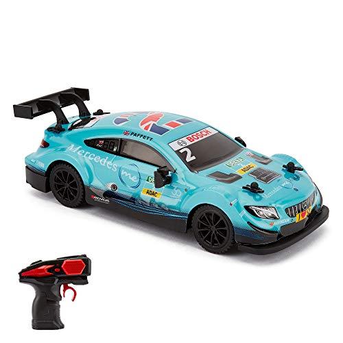 CMJ RC Cars 124RMBL Mercedes DTM Offiziell Lizenziertes ferngesteuertes Auto Spielzeug 1:24 Maßstab 2,4 GHz blau
