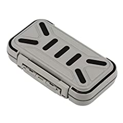 *Designed with a rubber band around the gap in the fishing tackle box, improves the waterproof performance; if the box falls in the water, it will float, you don't have to worry about losing the fishing gear. *Made of high-quality materials, it can b...