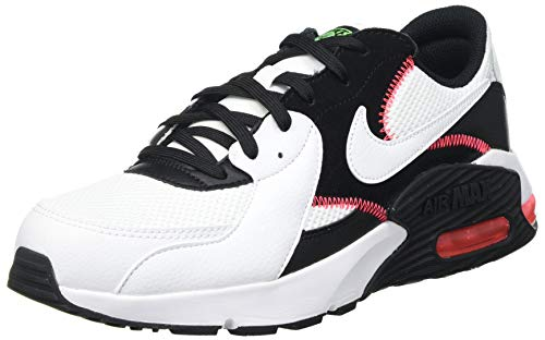 Nike Herren Air Max EXCEE Straßen-Laufschuh, White/White-Black-Flash Crimso, 43 EU