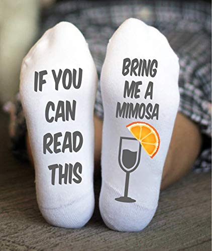 Mimosas Socks For Women's If You Can Read This Birthday Gift