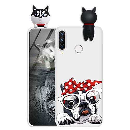 ZhuoFan Funda para Xiaomi Redmi Note 8T, Cárcasa Silicona 3D Muñecas con Dibujos Colores Diseño Suave Gel TPU Antigolpes de Protector Case Cover Fundas Movil para Redmi Note 8T 6,3', Perro 1