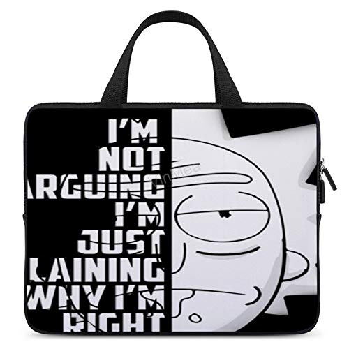 Neoprene Sleeve Laptop Bag 'Rick and Morty Quote' Portable MacBook Laptop/Ultrabooks Case Bag Cover 17 Inch