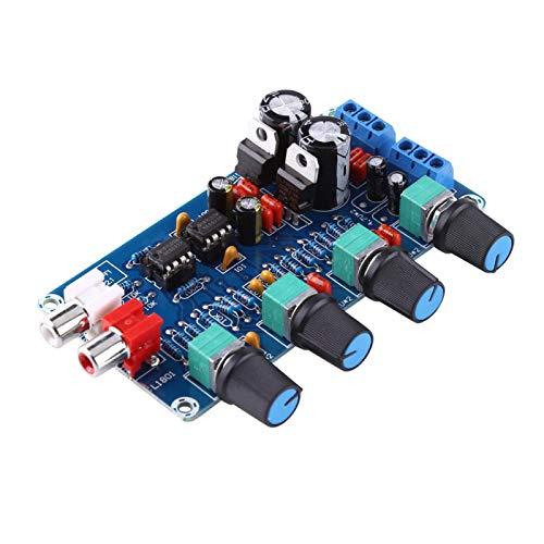Preamplificador, placa amplificadora Control de volumen AC 12 a 18 V Amplificador de alta fidelidad de ruido pequeño Placa ensamblada NE5532 para control de volumen, etc.