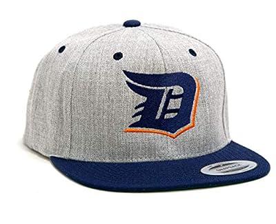 Detroit D Logo Baseball Hats. Flexfit Classic Snapback 2-Tone Adjustable Hat.