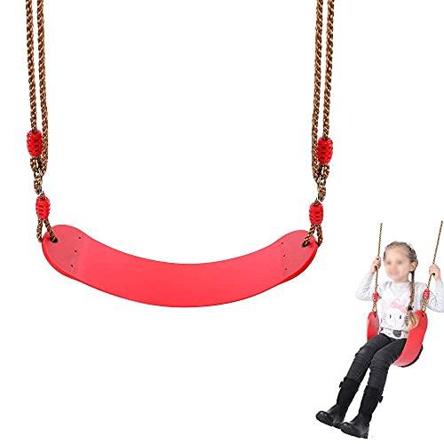 FYRMMD Columpio portátil de Tablero Suave de EVA, Columpio para niños para jardín, Columpio para niños en Interiores y Exteriores con Cuerda de PE, Carga máxima 150 KG