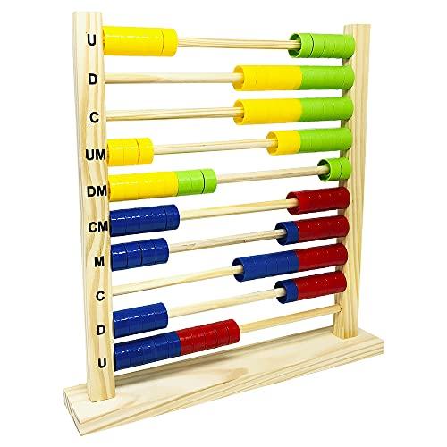 Ábaco 10 Colunas - Carimbras - Brinquedo Educativo e Pedagógico
