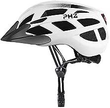 PHZ. Adult Bike Helmet with Rechargeable USB Light BicycleHelmet Men Women Road Cycling & Mountain Biking with Detachable Visor