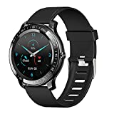 Smart Watch for Men, ZEEKER Fitness Tracker Watches for Android/iOS with Sleep Heart Rate Monitor and Blood Oxygen,5 ATM Waterproof Smartwatch with Music/Camera Control for Sport Outdoor (Black)