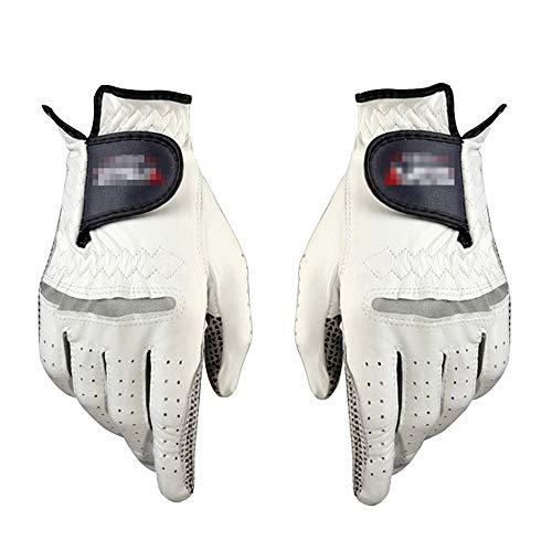 ZYQZYQ 1 Paar Golfhandschuhe Herren Linke Rechte Hand Weiche Atmungsaktive Golfhandschuhe Aus Reinem Schaffell Echtes Leder,25