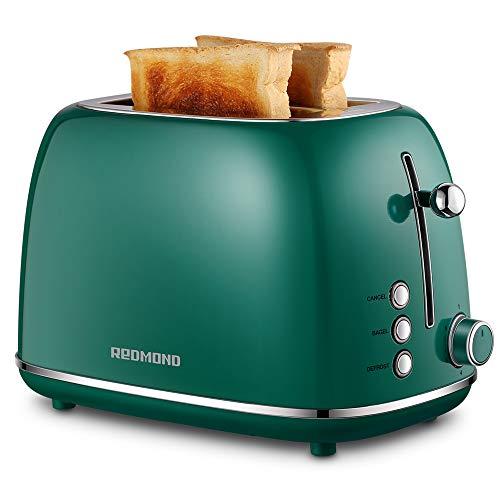 REDMOND 2 Slice Toaster Retro Stainless Steel Toaster...