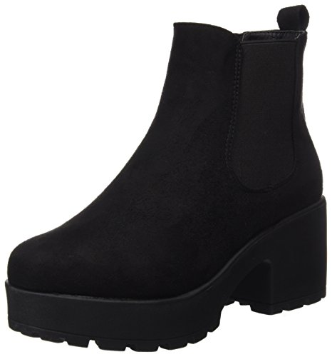 COOLWAY Irby, Botas Chelsea Mujer, Negro (Black 000), 39 EU