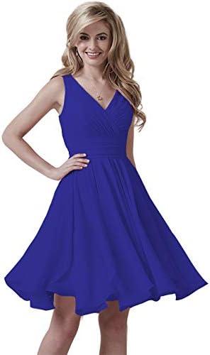 Royal blue short bridesmaid dress _image2
