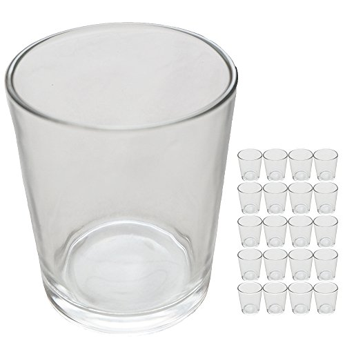 キャンドルホルダー 20個セット キャンドルスタンド ガラス グラス シンプル (透明)