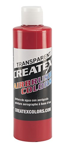 Createx Colors Paint for Airbrush, 8 oz, Transparent Brite Red by Createx Colors