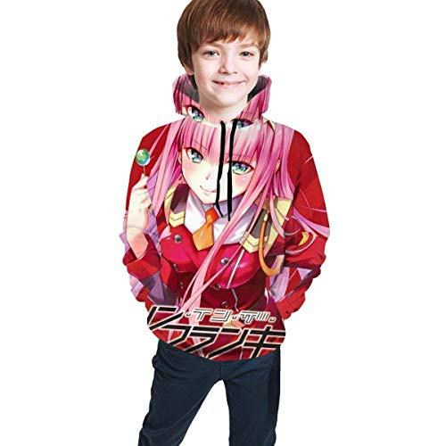 Tengyuntong Kapuzenpullover Liebling in der Franxx Zero Two Teen Unisex Mode Kapuzenpullover Casual Pocket