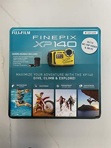 FUJIFILM Finepix XP140 with 4K & WiFi, Water-Proof, Shock-Proof Rugged Outdoor, 16.4 MP BSI-CMOS Sensor, 5X Optical Zoom, Digital Camera Bundle