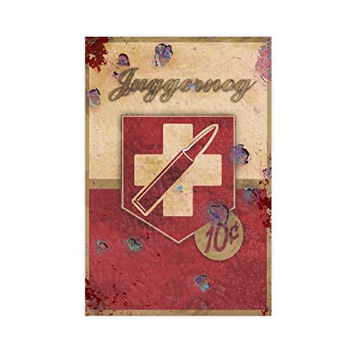 Vintage Poster Juggernog Perk Leinwand Poster Wandkunst Dekor Druck Bild Gemälde für Wohnzimmer Schlafzimmer Dekoration 30 × 45 cm ohne Rahmen