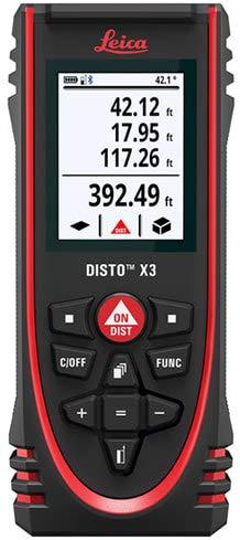 Leica DISTO X3 - Medidor de distancia láser resistente (catálogo 850834)