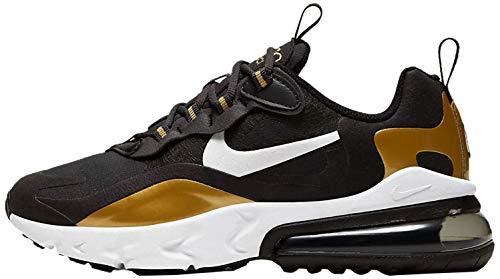 Nike Air Max 270 React (Gs) - Anthracite/White-Black-metallic GOL, Größe:6.5Y