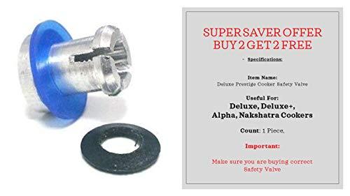 Prestige Sicherheitsventil für Deluxe, Deluxe Plus und Alpha Deluxe Schnellkochtöpfe mit blauem schwarzem Ring
