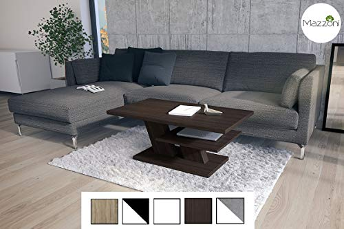 Design Couchtisch Cliff Walnuss Wenge Tisch Wohnzimmertisch 110x60x45cm mit Ablagefläche