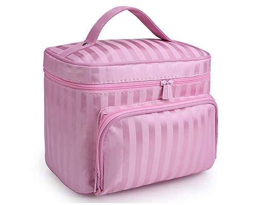 Große Kapazität Kulturtaschen Tragbare Reise Make-up Taschen Zipper Kulturbeutel Wasserdicht Kosmetiktasche Faltbar Waschtasche für Damen & Herren, Pink
