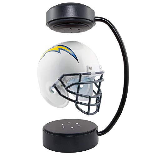 QUOP Casco de fútbol de levitación magnética Adornos de decoración de Escritorio giratorios de 360 °, con Soporte electromagnético y luz Nocturna, Regalo Creativo,14