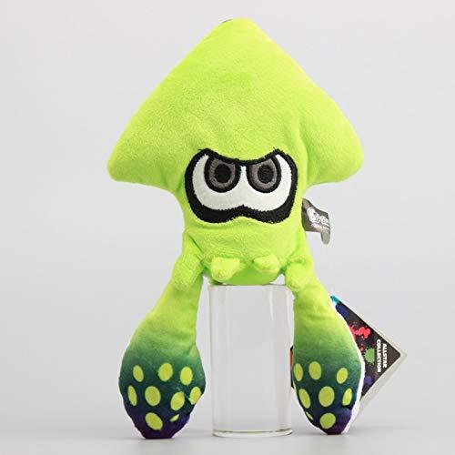 Ruiodr Anime Splatoon Inkling Squid Plüsch Puppe Kuscheltiere Lindgrün Stofftiere Sammeln Geschenk Für Kinder 23 cm