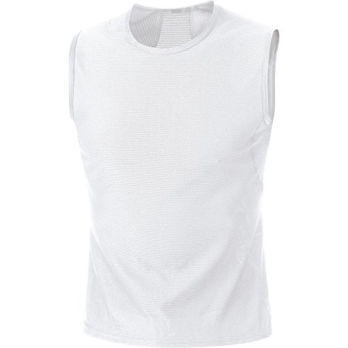 Gore Bike Wear Base Layer Funcional - Camiseta sin mangas para hombre, color blanco, talla M