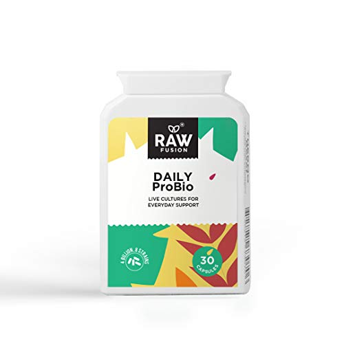 Daily Probiotic. Daily 8 Strain probiotic for Healthy Gut Support, Immunity, and Inflammation Response to Ease Bloating. by Raw Fusion Ltd