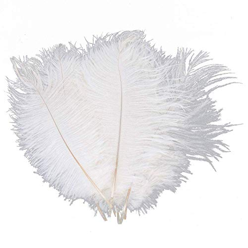 "100pcs 12''-14"" (30-35cm) Natural Ostrich Feathers Premium Home Wedding Centerpieces Decoration Feather Party DIY Décor White"