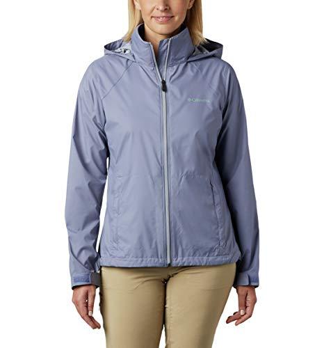 Columbia Women's Switchback III Jacket, Waterproof & Breathable, Packable, New Moon, Medium