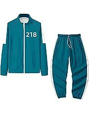 イカゲーム コスプレ服 2021ホット韓国映画 ズボン 上下セット コスチューム 男女兼用 運動服 緑上下セット