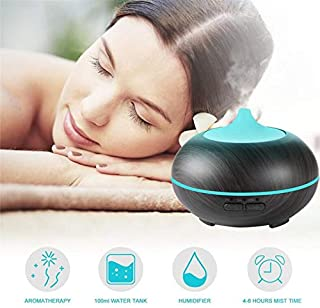 YUNXIAOHONG Aromatherapy humidifier Essential Oil Aromatherapy Machine Ultrasonic Wood Grain air Incense Dark Wood Grain