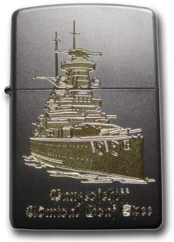 Zippo 18682 - Accendino con nave battente Admiral Graf Spee II, finitura satinata, incisione a diamante, cromato
