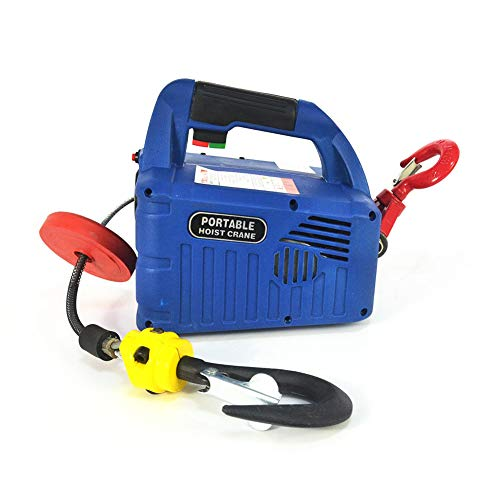 110V 500KG/1100LB 7.6M/25FT Wireless Remote Control Portable Household Electric Winch Hoists
