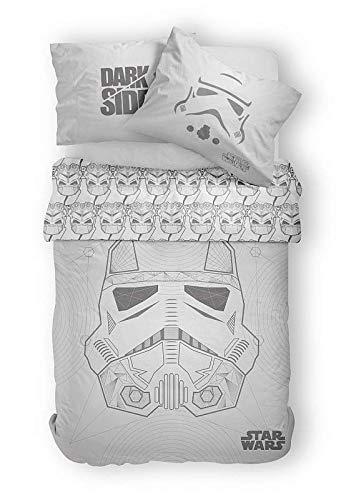 Disney Star Wars Stormtrooper - Juego de Funda nórdica y Funda de Almohada (140 x 200 cm)